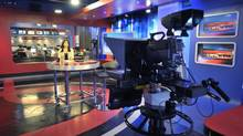 The Sun News studio at Sun News in Toronto. (J.P. MOCZULSKI For The Globe and Mail)