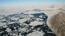 This handout image shows Markham Fjord in August 2008 after the Markham Ice Shelf broke away. Two ice shelves in Canada's far north have lost massive sections since August while a third ice shelf now is adrift in the Arctic Ocean, said researchers on September 3, 2008 who blamed climate change. (DENIS SARRAZIN/DENIS SARRAZIN/AFP/Getty Images)