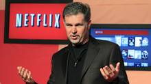 Netflix Chief Executive Officer Reed Hastings speaks during the launch of streaming internet subscription services for movies and television shows to televisions and computers in Canada, at a news conference in Toronto September 22, 2010. (MIKE CASSESE/Mike Cassese/Reuters)