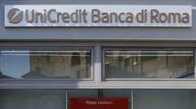 A UniCredit bank branch in Rome November 10, 2011. (TONY GENTILE/REUTERS)