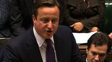 British Prime Minister David Cameron in the British parliament in London on December 12, 2011. (-/AFP/Getty Images)