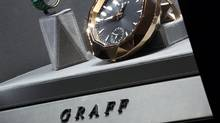 Luxury clocks and watches are displayed inside a Graff Diamonds store at Peninsula Hotel in Hong Kong, in this file picture taken November 22, 2011. High-end jeweller Graff Diamonds is forging ahead with an initial public offering to raise up to $1 billion, setting a price range on May 18, 2012 for its Hong Kong flotation despite a sell-off in equity markets. (BOBBY YIP/REUTERS/Bobby Yip)