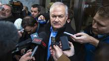 National Hockey League (NHL) Players' Association executive director Donald Fehr speaks to members of the media after dropping off a proposal atNHLheadquarters in New York, January 2, 2013. (Reuters)