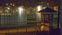 The prison yard of the Orsainville Detention Centre near Quebec City. (FRANCIS VACHON/THE CANADIAN PRESS)