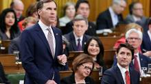 Finance Minister Bill Morneau delivers the federal budget in the House of Commons on Parliament Hill in Ottawa on March 22, 2017. (CHRIS WATTIE/REUTERS)