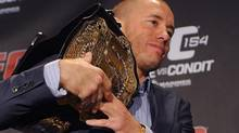 Defending UFC welterweight champion Georges St-Pierre (Graham Hughes/THE CANADIAN PRESS)