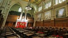 The Senate chamber sits empty in Ottawa on Jan. 17, 2011. (CHRIS WATTIE/Chris Wattie/Reuters)