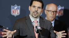 In this March 24, 2014, file photo, NFL vice-president of officiating Dean Blandino speaks during a news conference in Orlando, Fla. (John Raoux/AP)