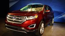 The 2015 Ford Edge after being unveiled Thursday at Ford's 2014 Future Trends conference in Dearborn, Mich. (Darren McGee/The Globe and Mail)