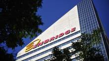 The Enbridge Tower is pictured on Jasper Avenue in Edmonton in this August 4, 2012 file photo. (Dan Riedlhuber/Reuters)