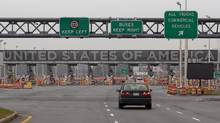 The United States border crossing is shown Wednesday, December 7, 2011 in Lacolle, Que., south of Montreal. (Ryan Remiorz/THE CANADIAN PRESS)