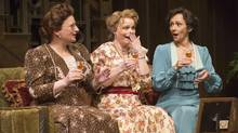 From left, Kate Hennig, Claire Jullien and Catherine McGregor in When We Are Married, at the Shaw Festival. (David Cooper)