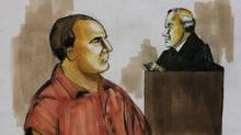 David Headley pleads not guilty before U.S. District Judge Harry Leinenweber on Dec. 9, 2009, in Chicago to charges accusing him of conspiring in the deadly 2008 terrorist attacks in Mumbai and of planning to launch an armed assault on a Danish newspaper. Mr. Headley changed his plea to guilty on March 18, 2010. (Verna Sadock/AP)