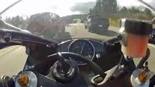 A man accused of steering his motorcycle through traffic on Vancouver Island at 299 km/h has been acquitted. (YouTube)