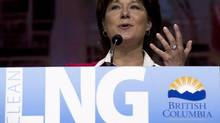 British Columbia Premier Christy Clark speaks during the LNG conference in Vancouver on May 21. (JONATHAN HAYWARD/THE CANADIAN PRESS)
