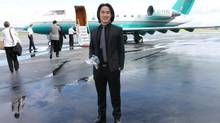 Holborn <137>Group <137>CEO Joo Kim Tiah took reporters on a champagne-fuelled aerial tour of the Trump International Hotel & Tower site. (HADANI DITMARS for the Globe and Mail)