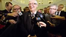 Deputy Premier Dave Hancock announces that he is the chosen interim premier in Edmonton on March 20, 2014. (JASON FRANSON/THE CANADIAN PRESS)