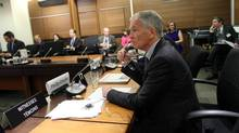 Globe and Mail publisher Phillip Crawley appears before a Parliamentary Commons heritage committee November 15, 2016 on Parliament Hill in Ottawa. (Dave Chan/The Globe and Mail)