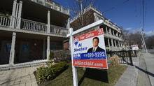 A house for sale in Toronto on March 15, 2013. (Fred Lum/ The Globe and Mail)