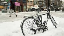 Darmaine Quillao photo: Parking - bicycle parked along Danforth Avenue (Darmaine Quillao/Darmaine Quillao)