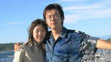 Li Jiaming, right, is on trial in Beijing in connection with the 2002 death of his girlfriend, Amanda Zhao. (The Canadian Press)