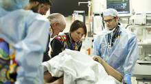 The trauma team treat a patient in the emergency department at Sunnybrook Health Sciences centre in Toronto, Ontario Tuesday, November 19, 2013. (Kevin Van Paassen/The Globe and Mail)