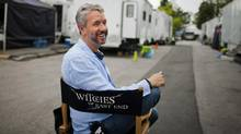 """Shawn Williamson, president of Brightlight Pictures, is photographed on the set of the series """"Witches of East End"""" in Burnaby, B.C. in 2014. (Rafal Gerszak For The Globe and Mail)"""