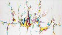 Alex Janvier, Untitled, 1986, acrylic on canvas, 165.1 × 266.7 cm. National Gallery of Canada, Ottawa (42867) © Alex Janvier (NGC)