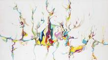 Alex Janvier, Untitled, 1986, acrylic on canvas, 165.1 × 266.7 cm. National Gallery of Canada, Ottawa (42867) © Alex Janvier (NGC)
