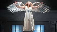 Prior Walter (Damien Atkins), is having nightmares that reach a crescendo in the arrival of the Angel (Raquel Duffy ). (Cylla von Tiedemann)