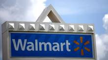 A Wal-Mart sign is seen in Miami, Florida in this May 18, 2010 file photograph. (CARLOS BARRIA/REUTERS)