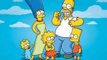 The Simpsons, from left: Maggie, Marge, Lisa, Homer and Bart. (AP Photo/Fox)