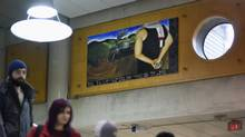 A painting at York University by Ahmad Al Abid, a 2013 business graduate. (Fred Lum/The Globe and Mail)