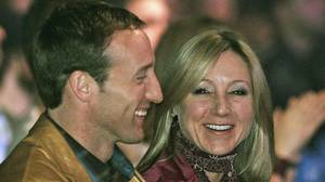 Peter MacKay and Belinda Stronach share a laugh in 2005.