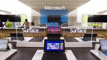 The new Microsoft Surface has plenty of central display space. (Peter Power/The Globe and Mail)
