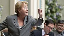 Parti Québécois Pauline Marois speaks in the National Assembly in Quebec City on Nov. 24, 2011. (Jacques Boissinot/Jacques Boissinot/The Canadian Press)