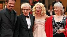 Left to right: Josh Brolin, Woody Allen, Scarlett Johansson and Gemma Jones attend the premiere of Allen's latest film on Saturday. (Sean Gallup/Getty Images/Sean Gallup/Getty Images)