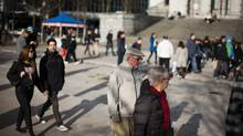 With shadows growing longer in December, pedestrians are at greater risk, authorities are warning. (Rafal Gerszak for The Globe and Mail)