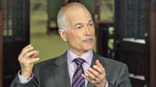NDP Leader Jack Layton speaks to reporters outside the House of Commons after being sworn in as Leader of the Official Opposition on May 18, 2011. (PATRICK DOYLE/THE CANADIAN PRESS)
