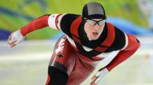 Canadian Jeremy Wotherspoon during the men's 500m speed skating finals where he placed ninth. (Fred Lum/The Globe and Mail)