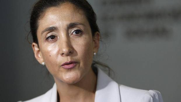 Freed French-Colombian hostage Ingrid Betancourt answers questions at the UN Headquarters in New York Sept. 9, 2008.