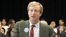 Tom Steyer left Farallon Capital Management and now devotes his time to talking about climate change. (Rich Pedroncelli/AP)