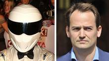Left: Ben Collins as the Stig. Right: Ben Collins unmasked