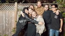 Sari Delmar, left, and her team meet biweekly for formal meetings, if not group hugs. (Dylan Leeder)