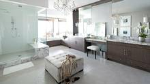 A recent bathroom reno by Kelly Deck in White Rock, B.C. shows many of the style elements Kelly loves best. (Barry Calhoun Photography)