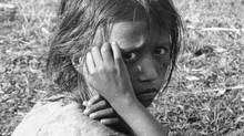 An East Pakistani refugee at the Indian border, 1971. (AP)