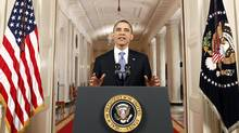 U.S. President Barack Obama speaks in the East Room of the White House in Washington, Thursday, June 28, 2012, after the Supreme Court ruled on his health care legislation. (Luke Sharrett/Associated Press)