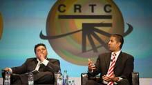 Newly appointed chairman of the FCC Ajit Pai, right, has been a vocal critic of U.S. policies on net neutrality. (James MacDonald/Bloomberg News)
