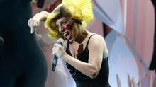 Lady Gaga performs Applause during the 2013 MTV Video Music Awards in New York, Aug. 25, 2013. (LUCAS JACKSON/REUTERS)