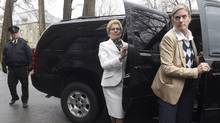Ontario Liberal Leader Kathleen Wynne arrives at the office of the Lieutenant-Governor at the Ontario legislature on May 1, 2014. (Fred Lum/The Globe and Mail)